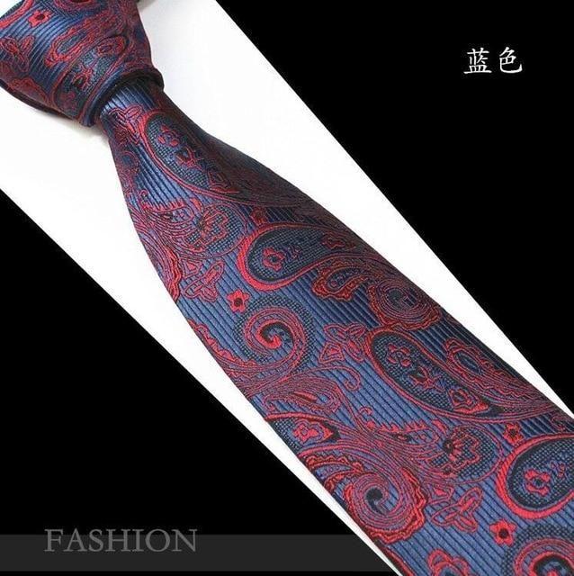 Men Ties Necktie Slim Paisley Necktie Fashion Necktie Ties for Business Party