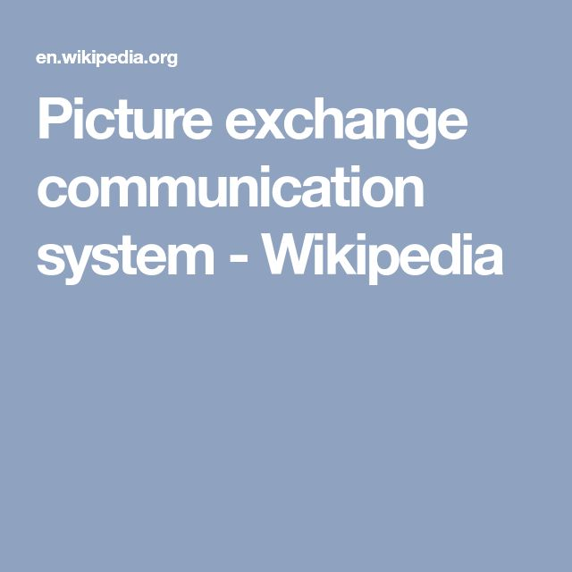 Picture exchange communication system - Wikipedia