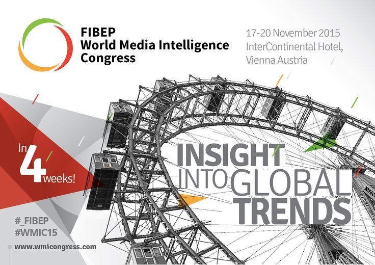 4 weeks until the #_FIBEP #WMIC15 in #Vienna, 17-20 November, 2015.