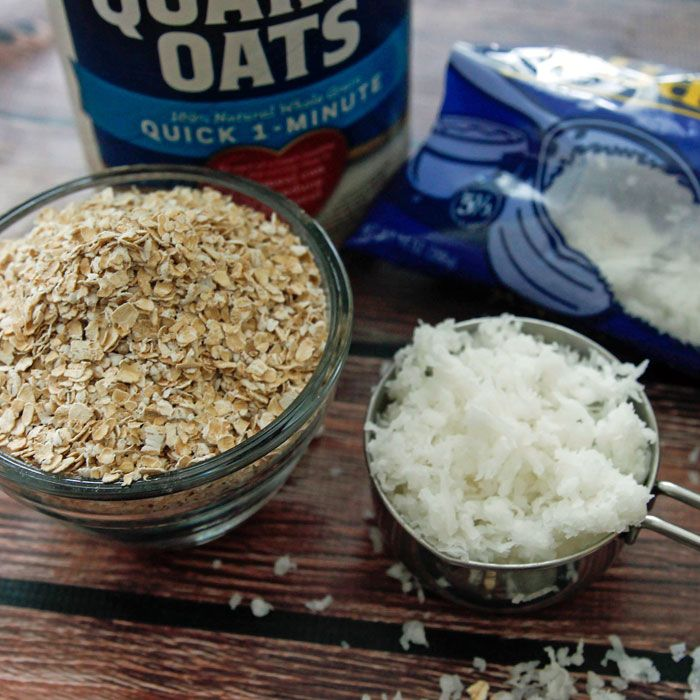 Quaker Instant Oatmeal and Bakers Sweetened Coconut Flakes are the secret to a Chewy cookie