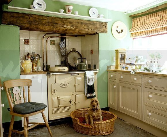 25 best ideas about aga stove on pinterest cottage for Green country kitchen ideas