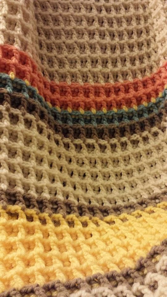 ergahandmade: Waffle Stitch Baby Blanket, Shawl, Scarf + Free Pattern + Video