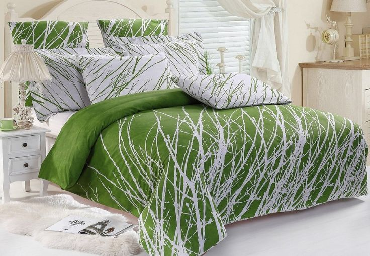 lime green bedding - Bedroom ideas - #bedroomideas - #limegreendecor  #limegreenbeding