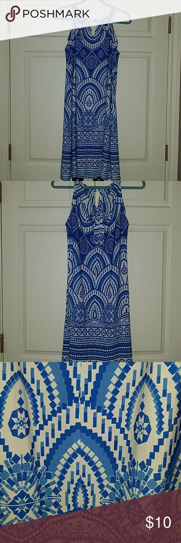 Blue and white dress! Super cute blue and white sundress that ties in the back.  Great dress to throw in your suitcase for that beach vacation!  Perfect condition! just taylor Dresses