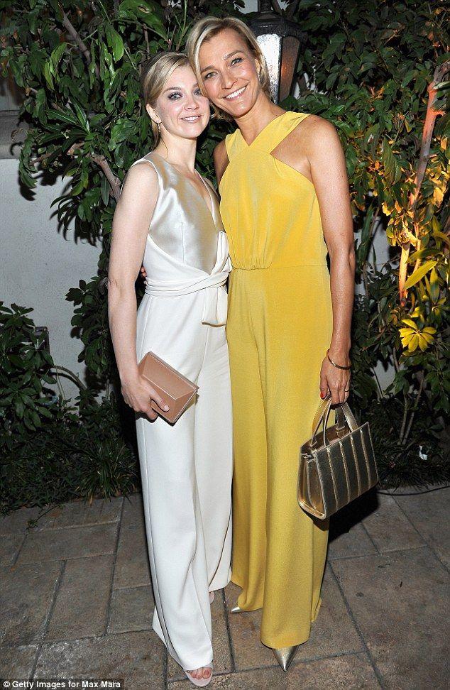 Lady of the hour: Natalie joins Max Mara Ambassador Nicola Maramotti at the party...