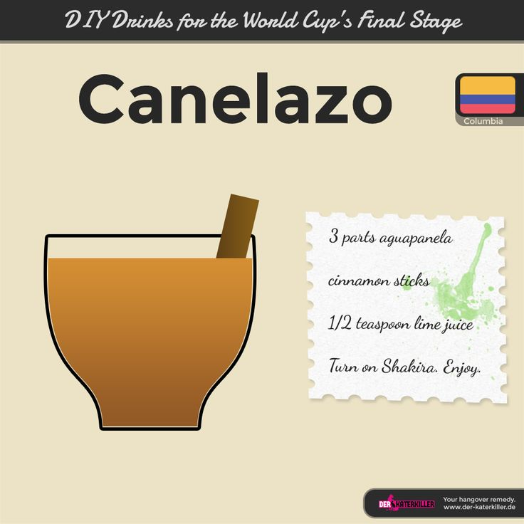 Enjoy hot or cold: Canelazo from Columbia.