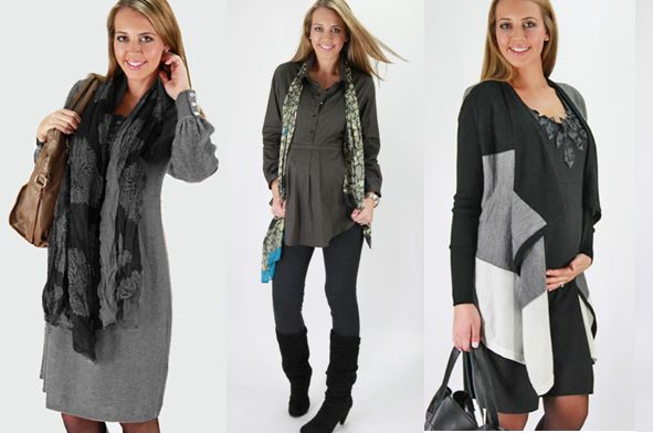 Winter maturnity. Love the cardigan on the right!