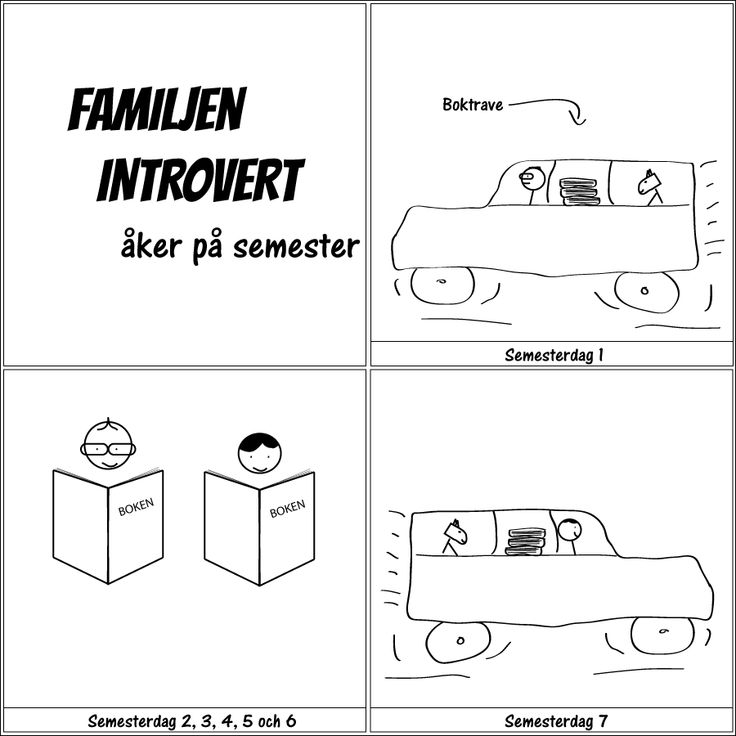 åker på semester.  Familjen Introvert dyker upp här igen 11/8. Ha en bra sommar!  #familjenintrovert #introvert #semester #humor #comic #kärlek #fredag #solitude #serie #serier #svenskaserier #livet #fredagsmys #familj #hsp #egentid #familjeliv #ensam #själv #egen #baravara #högsensitiv #självsamhet #självsam #hund #hundliv #böcker #chillax #chilla #familjemys
