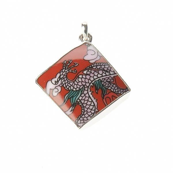 Lucky Buddha sieraden | Studio Art Styles | Hanger | Lucky Buddha Red tile pendant | handmade in Nepal