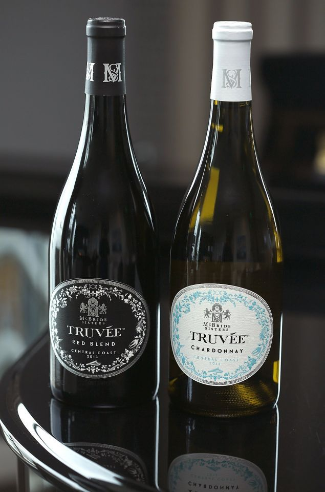 The McBride sisters show their new label Truvee Wines, varietals from California's Central Coast in San Francisco, California, on Wednesday, June 10, 2015.