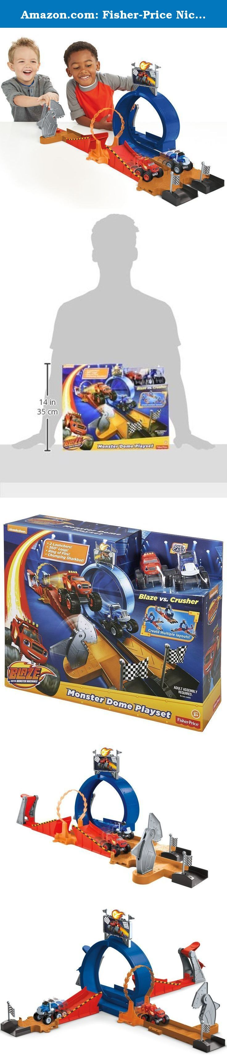 Amazon.com: Fisher-Price Nickelodeon Blaze and the Monster Machines Monster Dome Playset: Toys & Games. It's Race Day at the Monster Dome and crafty Crusher will stop at nothing to beat Blaze... even if that means building a chomping Sharkbot! Will Blaze race past the shark's mighty bite and speed on to win the race or will Crusher finally cross the finish line first? This track set can be configured into multiple layouts so race fans can recreate all the action and adventure of Blaze and...