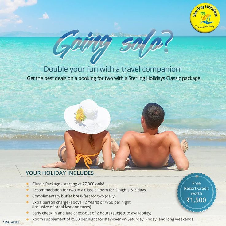 The best way to enjoy a holiday is to take someone along with you! Sterling Holidays offers the best deals when it comes to that. Get amazing benefits on our Classic Package, valid on all our resorts. Because happy holidays mean a Sterling Holiday. Visit our website for more. #SterlingHolidays #HolidayLifestyle #DiscoverJoy