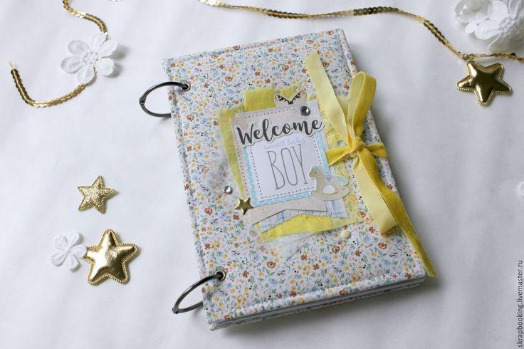"""Купить Дневник для мамы малыша """"Welcom Baby Boy """" - желтый, дневник, дневник для мамы"""