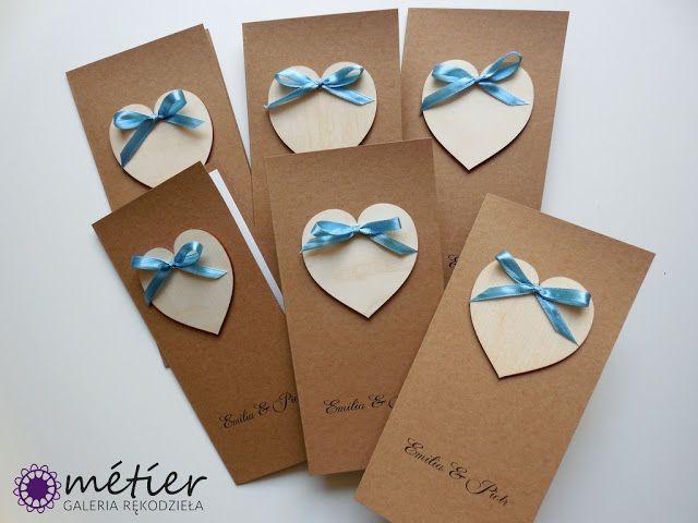 Zaproszenia ślubne www.metier.pl: Papeteria ślubna w stylu Eco