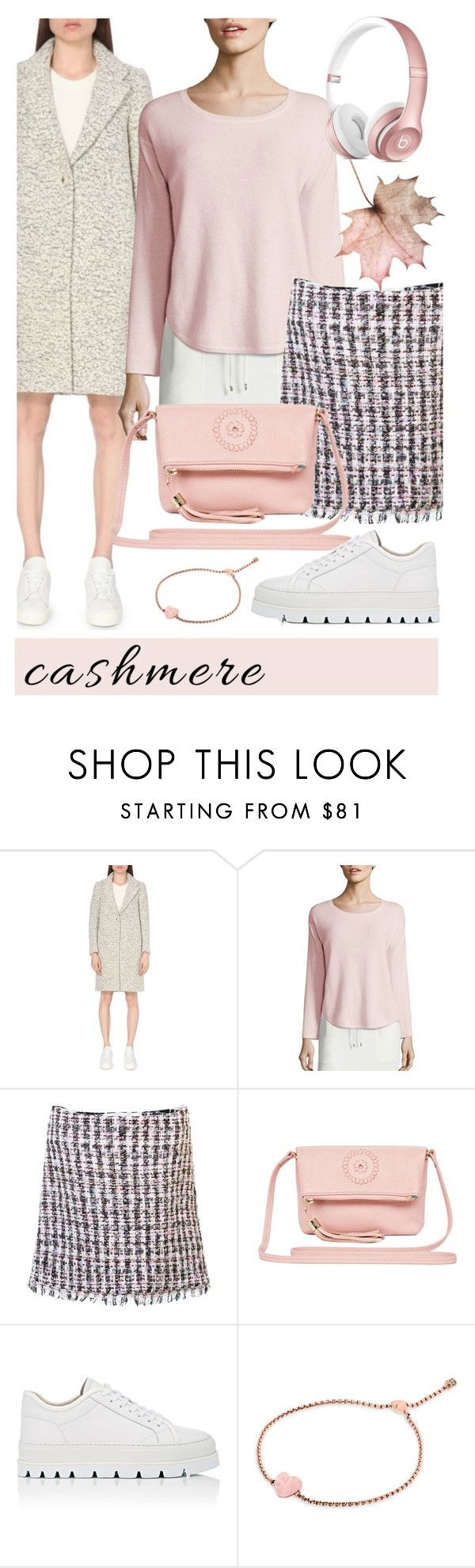 """""""Cashmere"""" by iojeni ❤ liked on Polyvore featuring Maje, Polo Ralph Lauren, Sandy Liang, Jack Rogers, Maison Margiela, Michael Kors and Beats by Dr. Dre"""