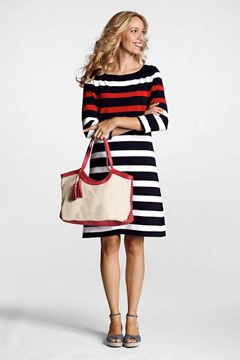 Land,s End Women's Small Kinzie Linen Tote Bag  Item # 41266-0AJ6