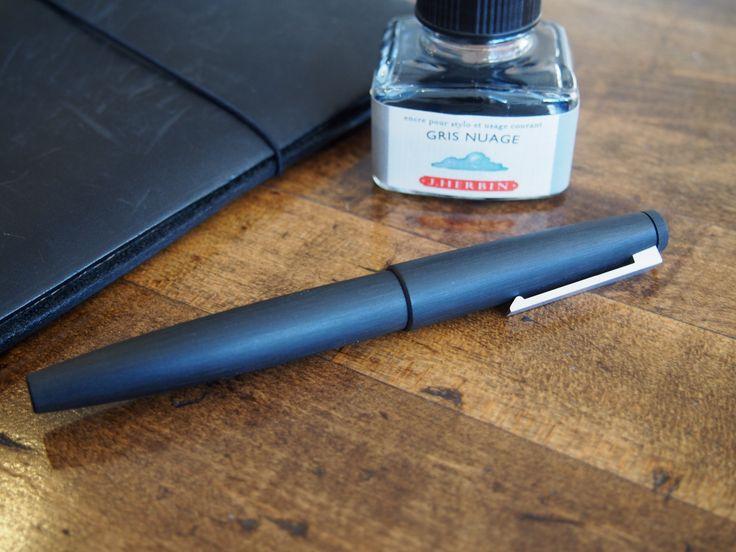Lamy 2000 Fountain Pen, Black Makrolon