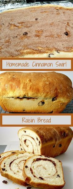 Homemade Cinnamon Swirl Raisin Bread is full of plump raisins and spiced with sweet sugar and cinnamon. It's perfect as toast slathered with butter. This recipe makes one loaf and can be frozen.