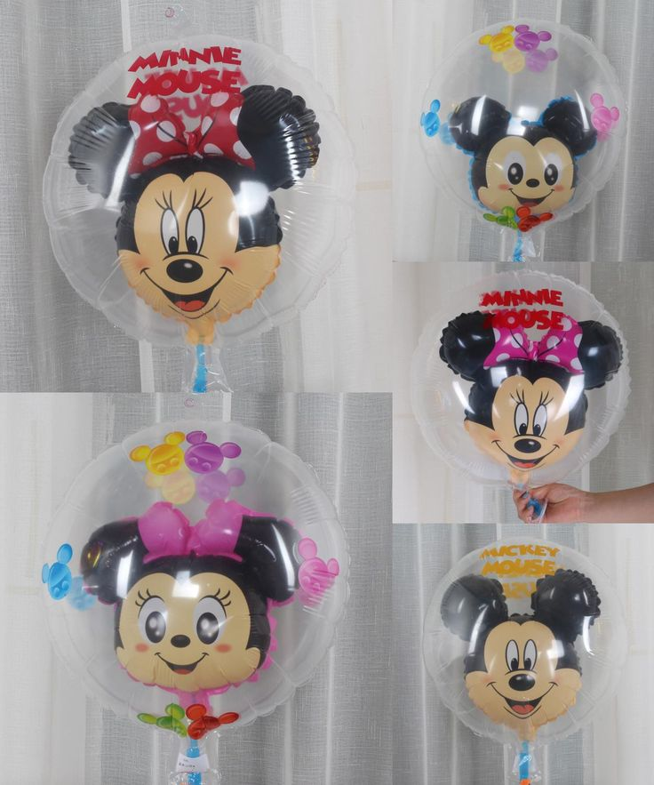 [Visit to Buy] New Arrival Ball IN Ball Minnie Mickey Mouse Helium Foil Balloons Red Minnie Birthday Party Decorations Event Party Suppliers  #Advertisement