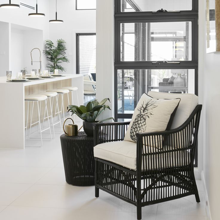 #cane @blackandwhite #openplanliving #relax #sanctuary #leaves #indoorplans #breakfastbar #kitchen