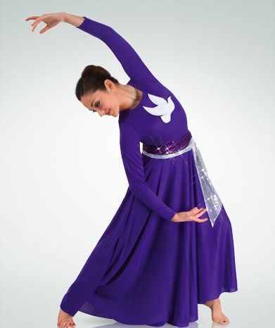 purple with white emblem garment of praise.  For a free praise dance workbook on PRAYER AND CHOREOGRAPHY, email Angie at awilliam4000@gmail.com.