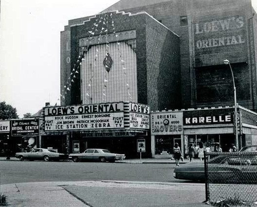 the loews oriental movie theatre in brooklyn ny. it has closed down but i saw a lot of movies here as a kid including rocky and grease.