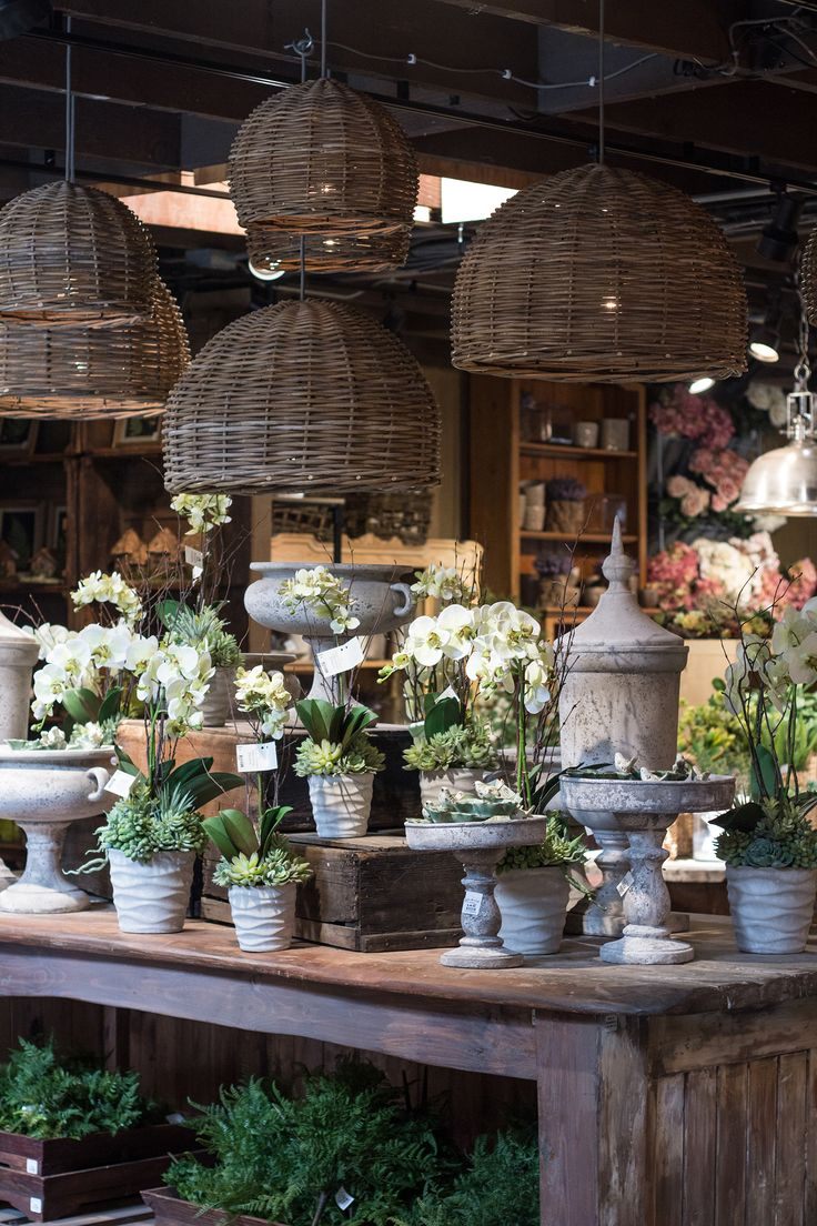 The Garden Rooms are ever-changing. Love this display by our talented Visual Merchandising team.   http://rogersgardens.com/silks/