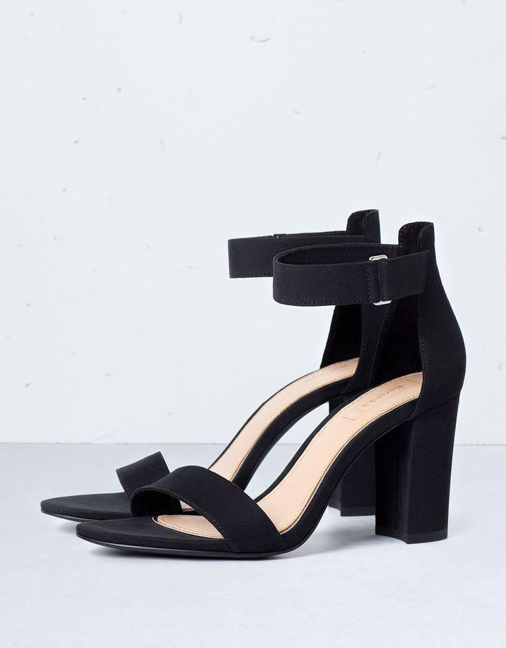 Bershka print sandals with heels