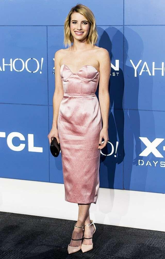 Come abbinare un vestito rosa cipria - Look da red carpet con borsa nera