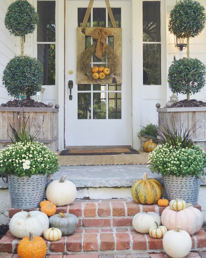 Front Porch Decorating: 2909 Best Images About Fall And Halloween On Pinterest