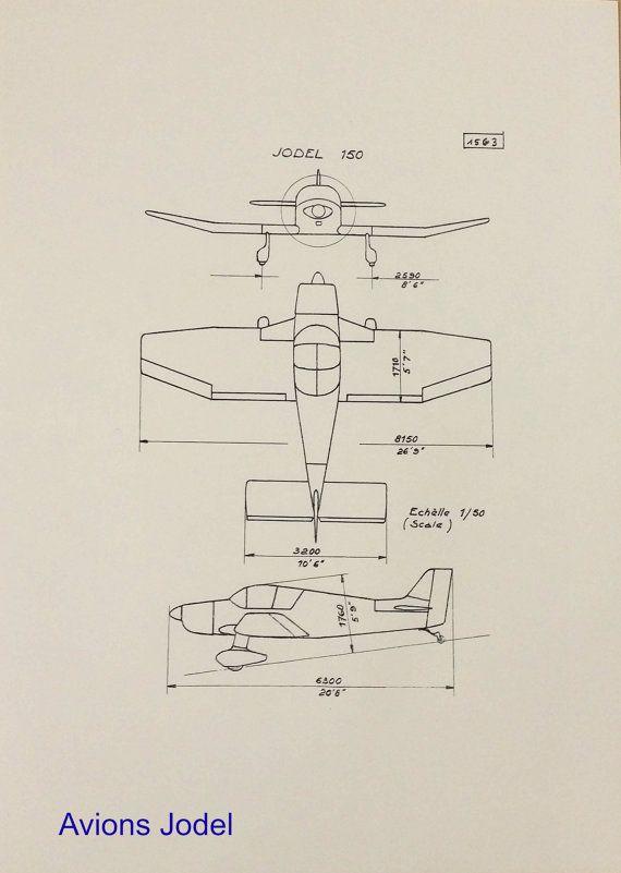 Aviation plan Reproduction 3 views JODEL D150  IDEES CADEAUX NOEL