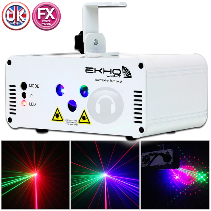Ekho Light Calypso RGB Pattern Twinkling Remote Laser Auto Sound 350mW DJ Disco from Electromarket.co.uk