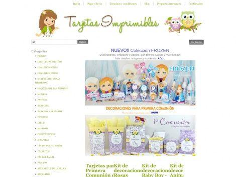 Tienda online de @Tarjetas Imprimibles donde podés comprar por Internet todas sus tarjetas imprimibles!