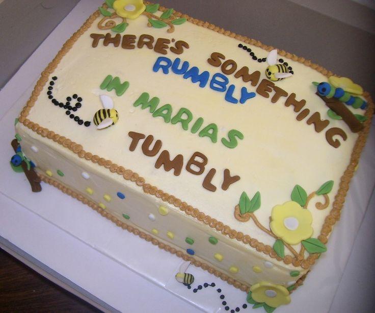 winnie the pooh baby shower party ideas | Winnie The Pooh Baby Shower Cake Just BAKED Cakes And ... | Party Id ...