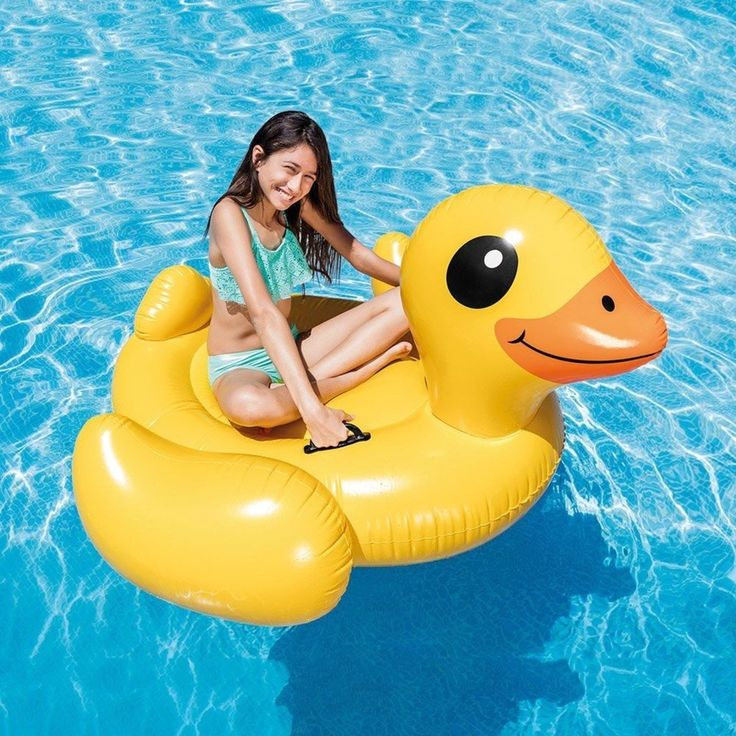 Large Inflatable Pool Floating Duck Island Raft Giant Yellow Party Water Lounge | Sporting Goods, Water Sports, Swimming | eBay!