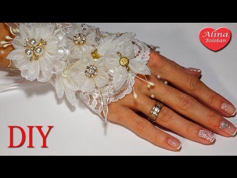 Свадебный Браслет Канзаши вместе с каналом Красивые Ногти by Alina Bykova - YouTube