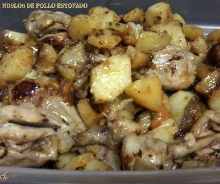 Muslos de pollo estofados de Beatriz  Conde. Con Chef Plus Induction.
