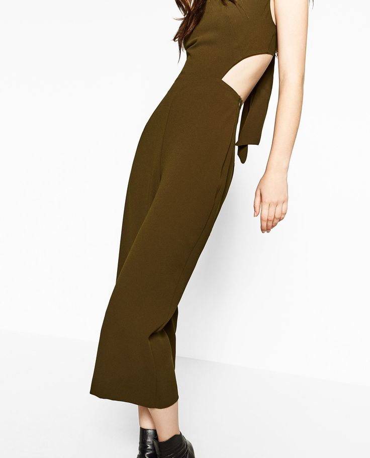 Image 4 of CROPPED JUMPSUIT from Zara