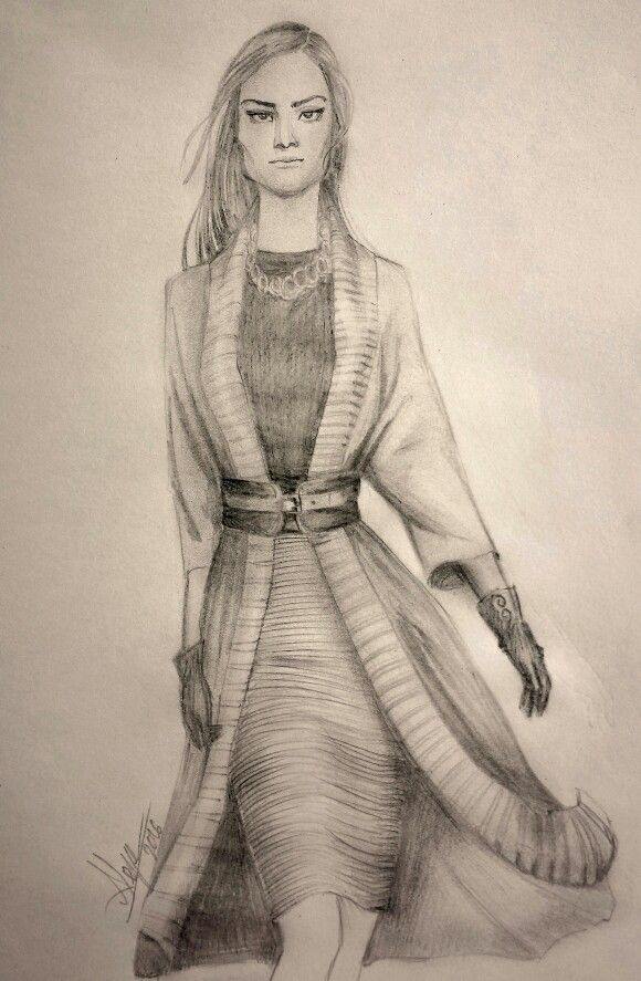Abrigo, boceto  técnica lápices by alejalfonso