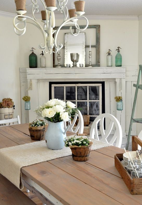 I love this cottage look - so clean and fresh and crisp - makes me feel so peaceful. (KLS)