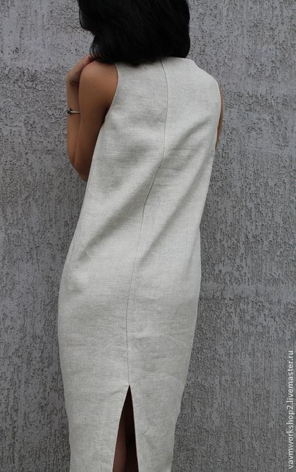 Платье льняное из серии 'Камни' в интернет-магазине на Ярмарке Мастеров. Платье из приятного 'суховатого' льна с очень интересной фактурой.