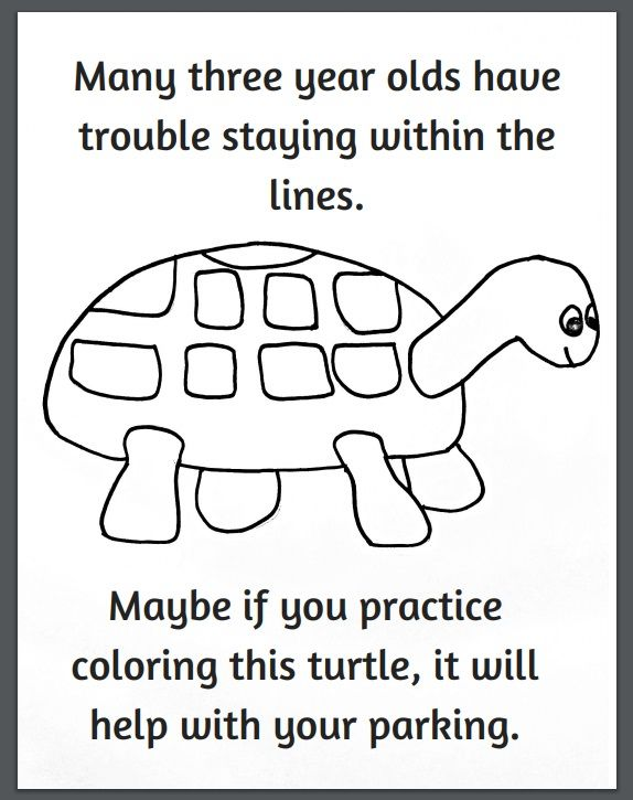 Funny Turtle Parking Coloring Page Coloring Pages Turtle