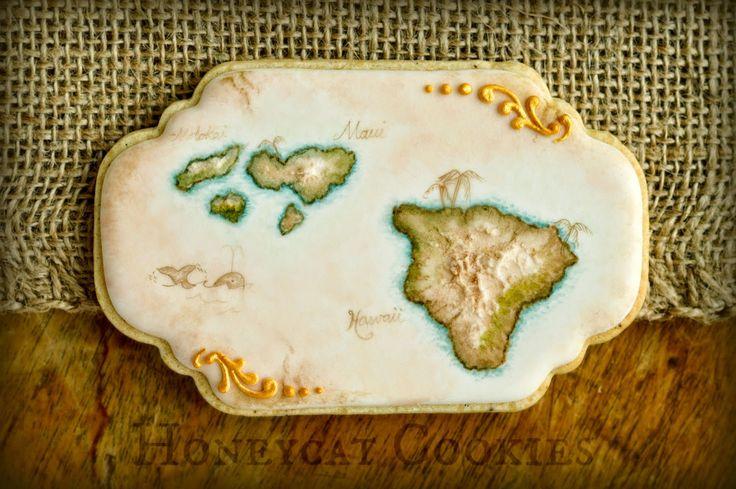 Travel Cookie Set: Vintage Map Cookie Tutorial by Honeycat Cookies