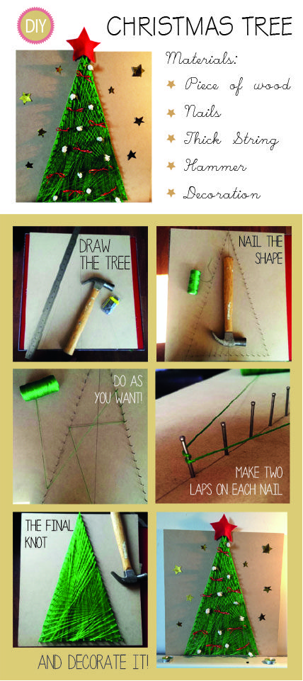 DIY different string Christmas tree