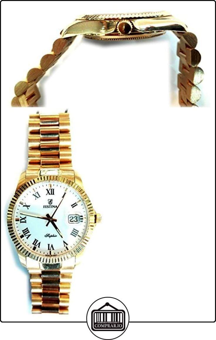 Festina Oro F0555/1 - Reloj Caballero de Oro 18 Quilates  ✿ Relojes para hombre - (Lujo) ✿