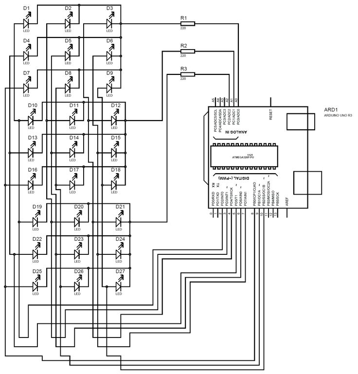 led 3d cube 3d led cube circuit diagram