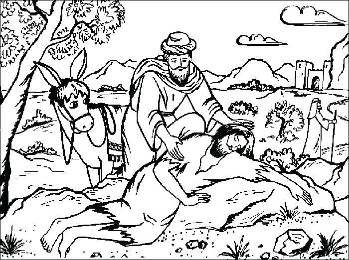 Good Samaritan Coloring Pages Good Samaritan Bible Story Bible