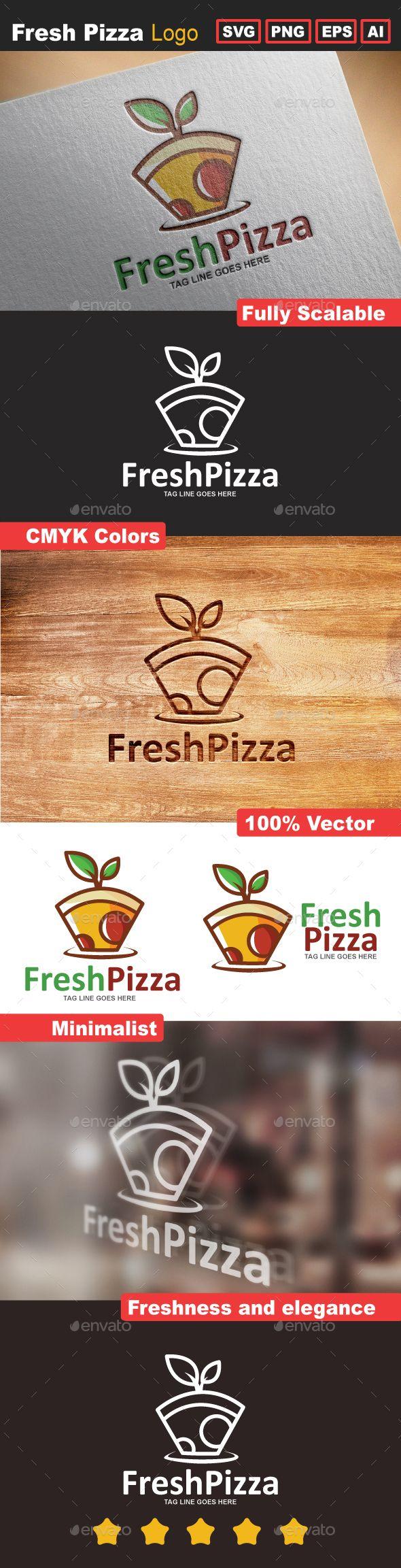 Fresh Pizza Logo Template - Food Logo Templates