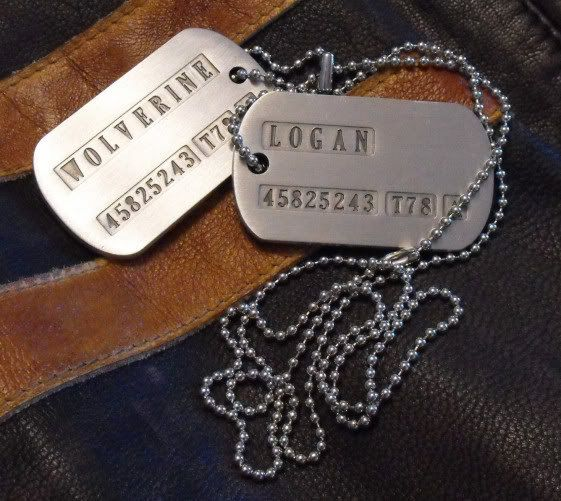 Omg I want these!!!!!!  Wolverine Logan Dog Tags Prop Replica by MagnoliClothiersLtd