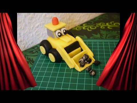 Simple Bagger Baggi BOB der BAUMEISTER Topper Motivtorte Fondant Bob the Builder YouTube